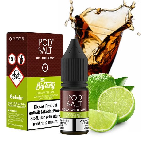 POD SALT FUSION Cola with Lime Nikotinsalz Liquid 10 ml