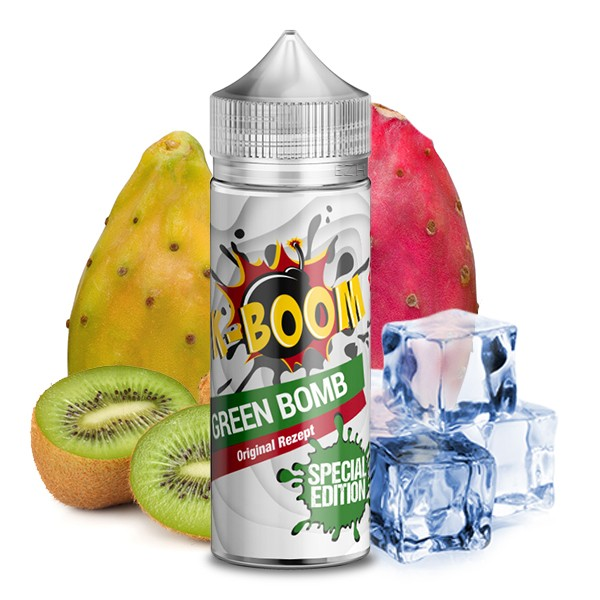 K-BOOM Special Edition Green Bomb 2020 Aroma 10ml mit einer 120ml Leerflasche