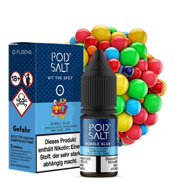 POD SALT FUSION Bubble Blue Nikotinsalz Liquid 10 ml