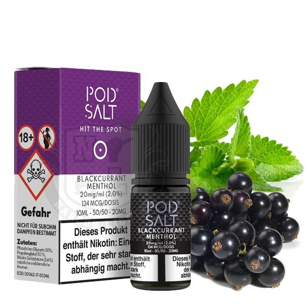 POD SALT Blackcurrant Menthol Nikotinsalz Liquid 10 ml